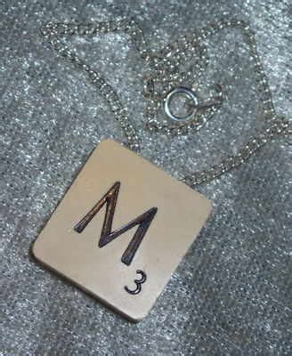 scrabble jewellery scrabble tile pendant is fashionable just now made