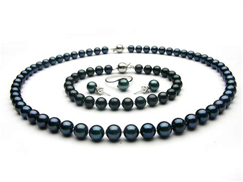 pearls jewelry black akoya pearl jewelry set 6 5 7mm aaa pearl jewelry