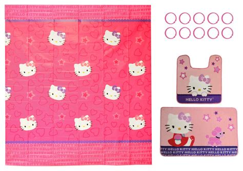 hello bathroom rug hello bathroom sanrio poodle shower curtain rugs set