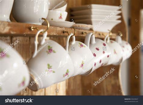shabby chic tea cups white tea cups shabby chic interior stock photo 39329047