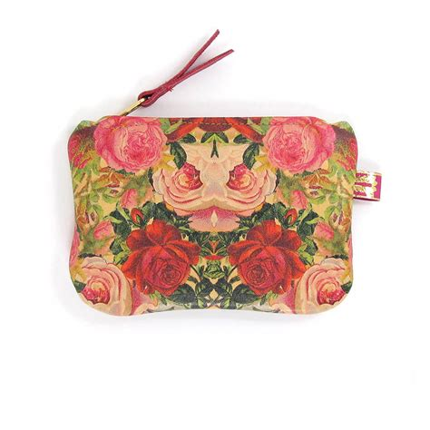 decoupage leather printed leather purse decoupage roses by tovi sorga