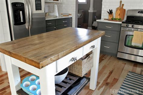 wood top kitchen island diy kitchen island from new unfinished furniture to