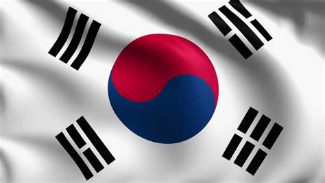 south korea south korean flag stock footage