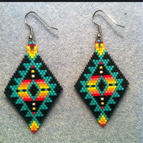 beaded earrings american 17 best images about beaded earings on seed