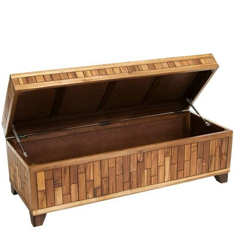 storage ottoman benches luca wood storage ottoman bench