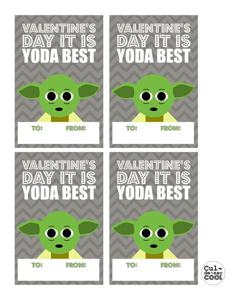 Diy Printable Cool Wars S Day Cards Yoda