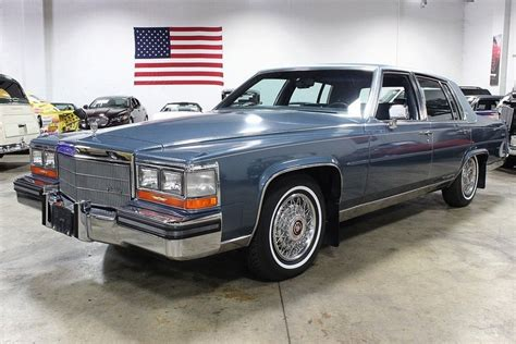 1986 Cadillac Fleetwood Brougham For Sale by Medium Blue Firemist 1986 Cadillac Fleetwood Brougham For
