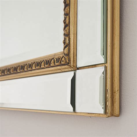 gold beaded mirror beaded bevelled gold mirror by decorative mirrors