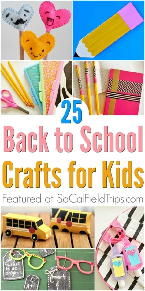back to school crafts for 25 easy back to school crafts for socal field trips