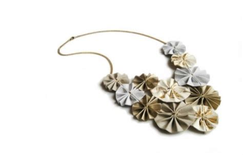 origami jewelry home folded paper jewelry that makes origami look chic green