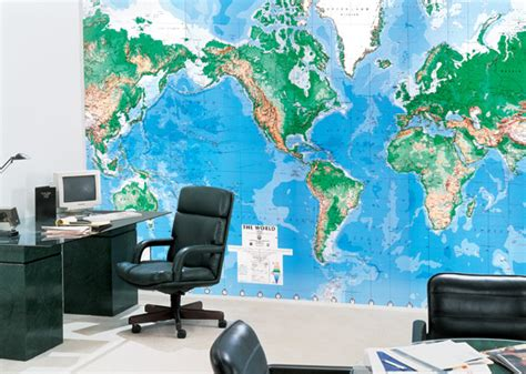 World Wall Map Mural world map wall mural