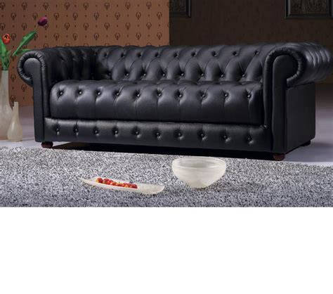 black tufted leather sofa dreamfurniture 2 black tufted leather sofa set