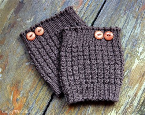 boot cuff knit pattern easy knit boot cuffs simply notable