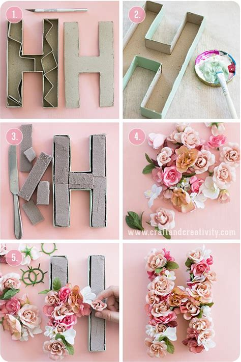 craft paper letters 10 summer diy projects you must try floral craft and