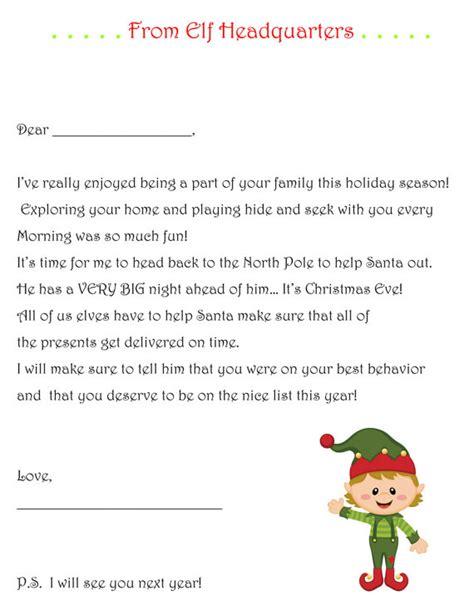 elf on the shelf goodbye letter template items similar to elf on the shelf goodbye letter pdf elf