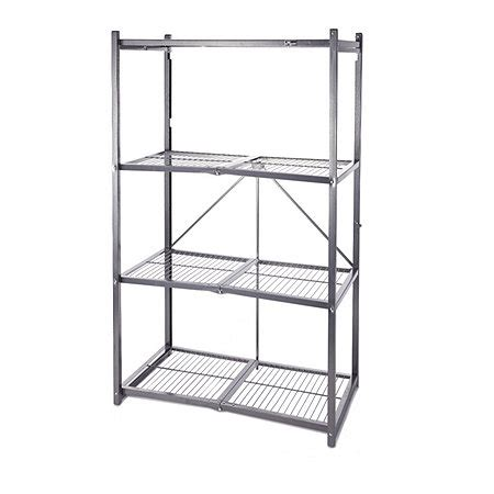origami shelving unit origami 4 tier collapsible shelving unit 803865 qvcuk
