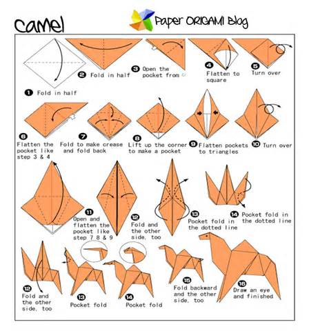 camel origami camel origami folding diagram paper origami guide
