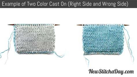 what does right side in knitting how to knit the two color cast on for knitting