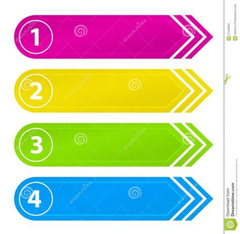 Software Gratuito botones numerados del web site con la flecha fotos de
