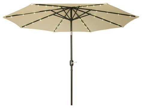solar lighted umbrella patio deluxe solar powered led lighted patio umbrella 9