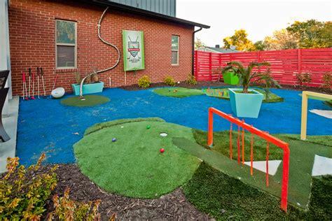 backyard mini golf course large and beautiful photos