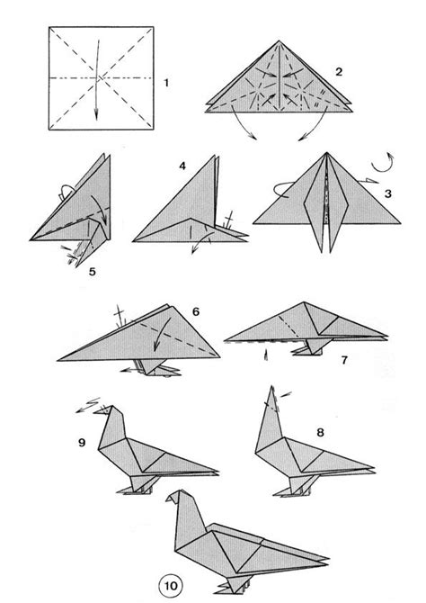 origami dove step by step dove origami cool diy