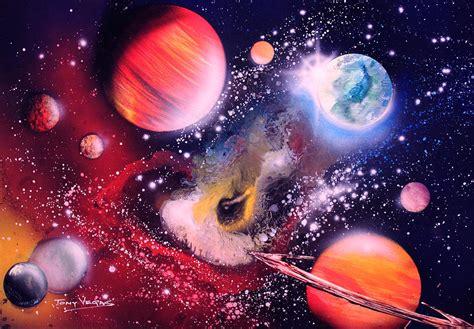 spray paint nebula nebula guards painting by tony vegas