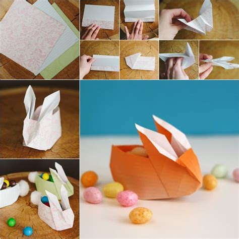 origami rabbit tutorial diy easy paper origami bunny box fab diy