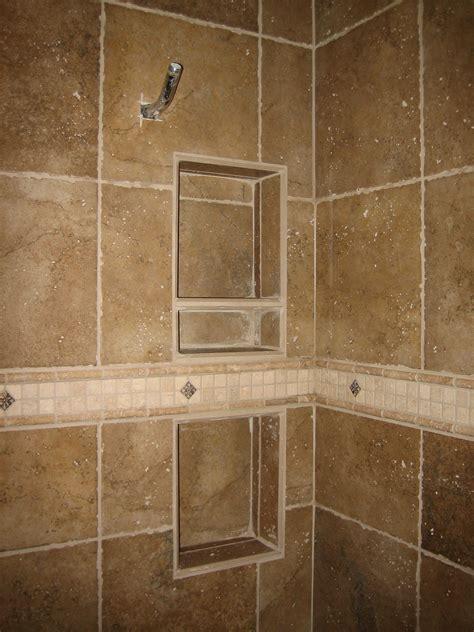 shower tile shelves shower recessed tiled shelving and specialty band rk