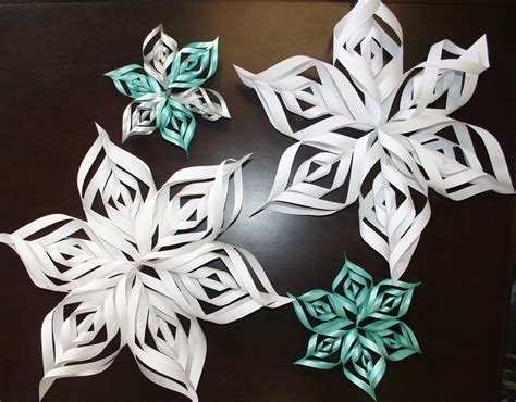 3d snowflakes paper craft 3d snowflakes for tweens at the newark library