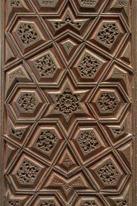 islamic woodwork photo 1166 07 wooden door panel in museum of islamic