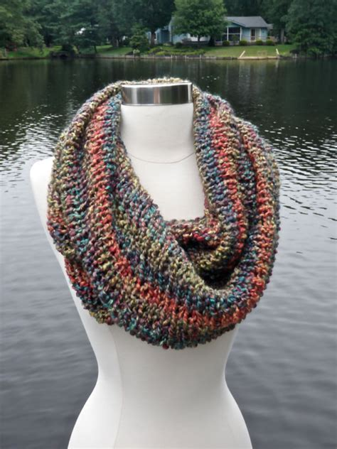 cowl knitting pattern needles items similar to new easy and luxurious cowl