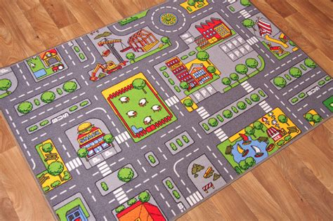 play rug with roads play town roads mats cheap small large