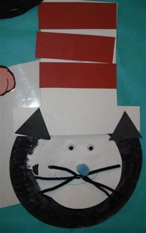 cat in the hat crafts for paper plate cat in the hat craft ideas juxtapost