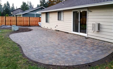patios with pavers paver patio ajb landscaping fence