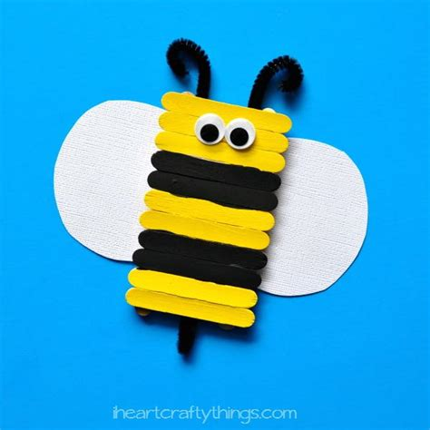 busy bee crafts popsicle stick busy bee craft allfreekidscrafts