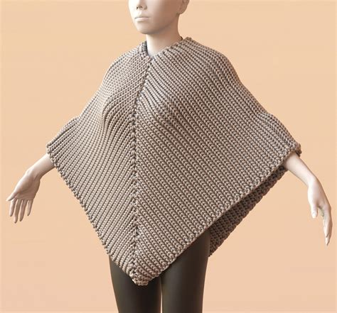 knit poncho pattern poncho 171 mitsuba development