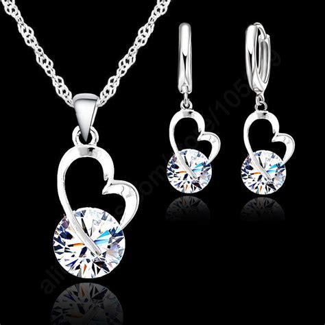 jewelry free shipping 2014 free shipping new jewelry shinning cz jewelry set 925