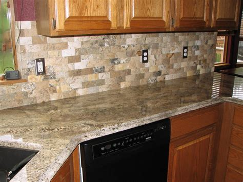 granite tile backsplash kitchen decorating using light brown tile kitchen