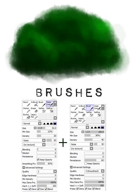 paint tool sai brush setting painttool sai brush settings 2 tree by m42ngc1976 on