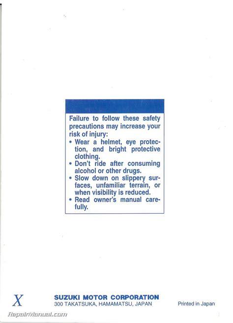Suzuki Gz250 Manual by 1999 Suzuki Gz250 Marauder Owners Manual