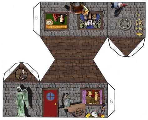 paper craft house tarot papercraft house