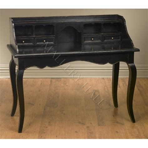 black desk with hutch black writing desk with hutch the pottery writing desk