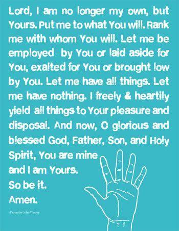 methodist prayer wesley s covenant prayer resources eternal perspective