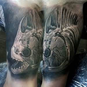 50 fish skeleton tattoo designs for men x ray ink ideas