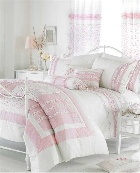 pink and white comforter set white pink ruffle bedding duvet cover or bedspread