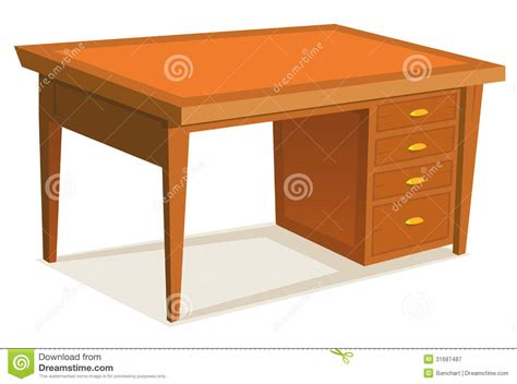 cartoon office desk royalty free stock photography image