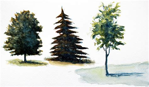 paint tree how to paint trees with watercolor