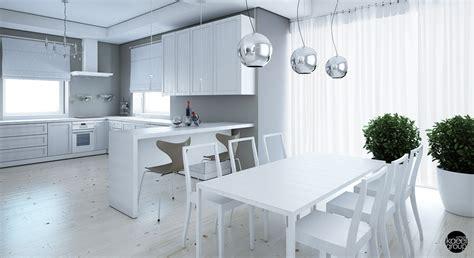 Kitchen Dining Room Floor Plans white wood floor interior design ideas