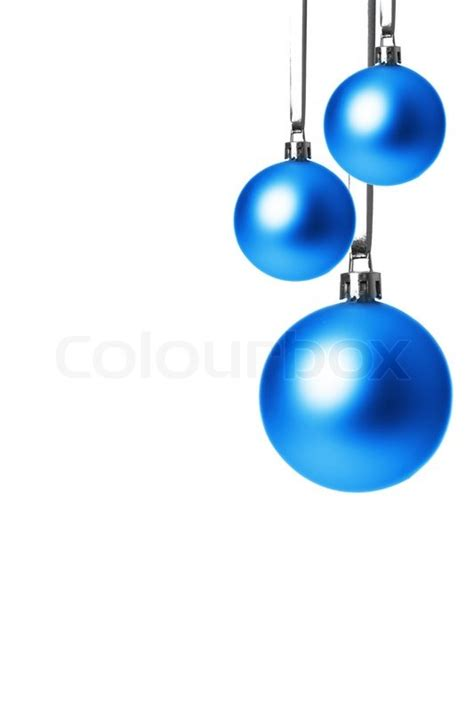blue ornament balls blue balls isolated with white background